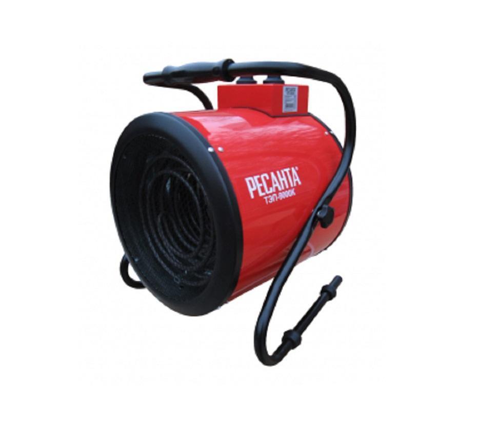 Тепловая пушка Ресанта ТЭП-9000КТЭП-9000КРесанта ТЭП-9000К – это самая мощная электрическая тепловая пушка данного латвийского производителя. Инструмент с легкостью способен отапливать даже большие по площади жилые или производственные помещения. Также прекрасно подходит для сушки воздуха в помещениях (без сжигания кислорода). Мощность нагревательного элемента на максимуме достигает 9.000 Вт!