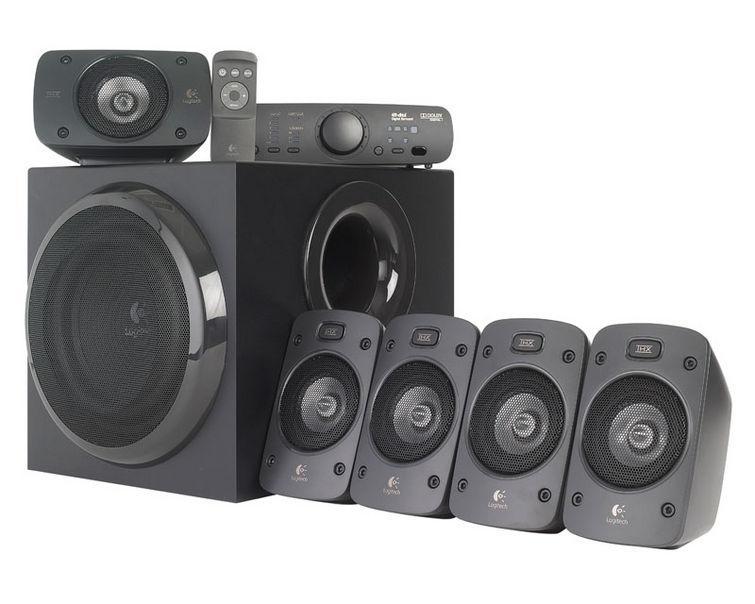 Logitech Z906 5.1 (980-000468)980-000468Аудиосистема 5.1 Logitech Z906 мощностью 500 Вт с сертификатом THX обеспечит мощный звук и точно передаст все нюансы. Ощутите все нюансы объемного звука в формате Dolby digital или DTS — от гула толпы до шагов за спиной. Консоль управления с удобным дисплеем и возможности установки в стойку идеально впишется в домашнюю мультимедийную систему и обеспечит полный контроль над аудиоустройствами — с возможностью управления громкостью всех колонок, включения и отключения питания, выбора входов для источников звука и многими другими функциями.