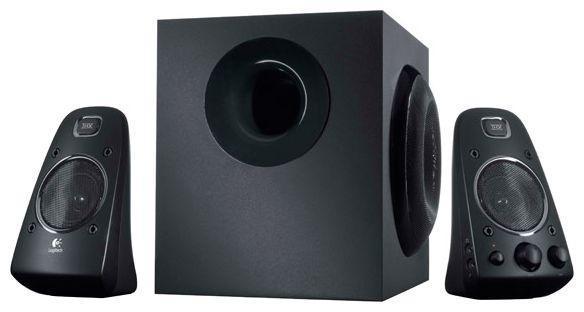 Logitech Z623 Speaker (980-000403)Z623 (2.1)Акустическая система 2.1 с мощностью 200 Вт и сертификатом THX обеспечит насыщенное звучание с точной передачей всех нюансов. Мощные низкие частоты, четкие верхние и насыщенные средние частоты вдохнут жизнь в игры, фильмы и музыку. Простая в установке система с двумя сателлитными колонками и одним сабвуфером гарантируют мощное звучание — даже в больших помещениях.