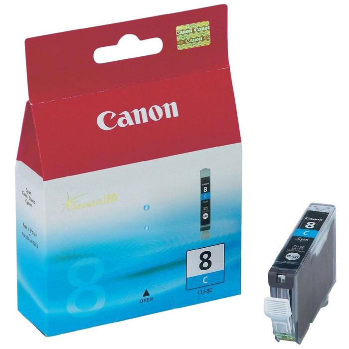 Canon CLI-8, Cyan картридж для струйных МФУ/принтеров0621B024Картридж с чернилами Canon CLI-8. Совместимость: Pixma MP500/800, Pixma IP6600D/5200/5200R/4200