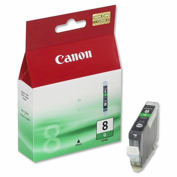 Canon CLI-8, Green картридж для струйных фотопринтеров0627B001Сменный картридж с чернилами Canon CLI-8 Photo для струйных фотопринтеров Canon PIXMA. Тип чернил: водорастворимые