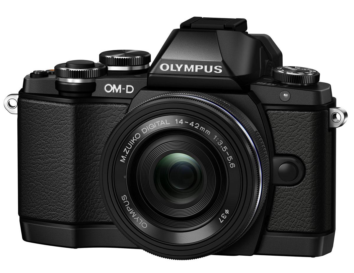 Olympus OM-D E-M10 Kit 14-42 EZ, Black цифровая фотокамераV207023BE000Olympus OM-D E-M10 - тонкая, красивая, лёгкая системная камера, лучшая по соотношению цена/качество в своём классе. Беззеркальная камера системы Микро 4/3 укомплектована самыми последними технологиями: большим электронным видоискателем, высокоскоростным автофокусом, встроенным модулем Wi-Fi, а также встроенной вспышкой. E-M10 оставляет позади зеркальные камеры как по размеру, так и по качеству изображения! Е-М10 делает процесс фотографии простым. Камеру приятно держать в руках благодаря бескомпромиссному качеству сборки и эргономичности. Интуитивное управление, высокая скорость работы, электронный видоискатель (ЭВИ) высокого разрешения и ультраскоростной 81-точечный автофокус FAST AF предоставят вам полный контроль над съёмкой. Встроенный в камеру 3-осевой стабилизатор VCM обеспечит резкие изображения без смазов. Фотоаппарат награждён престижной премией Продукт года. Он гарантирует высочайшее качество снимков, скорость фокусировки E-M5 и...