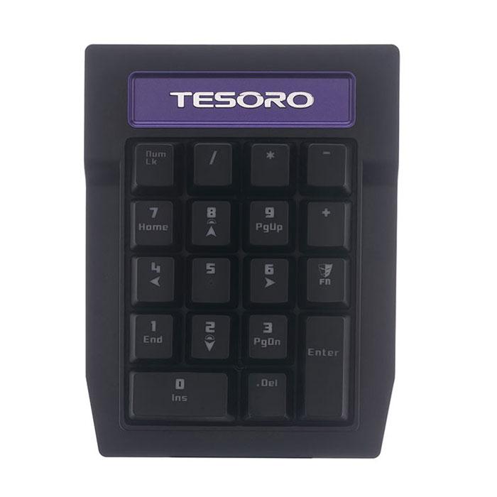 Tesoro Tizona Numpad TS-G2NP (Kailh Black) дополнительный цифровой блокTS-G2NP BlackTizona Numpad — механический цифровой блок. Может использоваться как независимо, так и в качестве дополнения к абсолютно любой клавиатуре. Впрочем, при использовании с любой клавиатурой Tesoro серии Tizona цифровой блок может быть легко присоединён к её левой или правой стороне с помощью магнитов. Tizona Numpad оборудован механическими переключателями клавиш и системой антигостинга Full N-key Rollover. Устройство может подключаться к ПК как напрямую с помощью съёмного кабеля, так и через один из боковых портов клавиатуры Tizona, если используется с ней. Система Full N-Key Rollover позволяет одновременно нажимать огромное количество клавиш без блокировки сигнала, что открывает массу возможностей по комплексному управлению игровыми функциями. Каждая клавиша Tizona - это отдельный переключатель. Каждый из них рассчитан на 50 миллионов нажатий. Клавиатура Tizona выпускается в нескольких модификациях: каждая с отдельным типом...