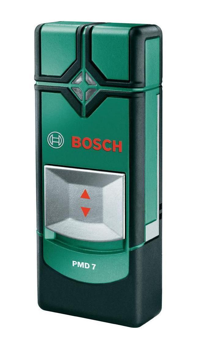 Детектор Bosch PMD 7 (0603681121)PMD 7Для домашних мастеров при сверлении безопасность превыше всего. Для этого нужно точно знать, где именно в стене проходят металлические конструкции, трубы или электропроводка. Детектор PMD 7 от Bosch с высокой точностью позволит обнаружить железо, цветной металл и электрические провода, что поможет оперативно определить опасные участки. Световая сигнализация и предупредительные звуковые сигналы однозначно просигнализируют о том, где домашнему мастеру лучше не начинать сверление. Надежный детектор PMD 7 от Bosch благодаря своему исключительно простому управлению станет практичным помощником для домашнего мастера и исключит опасность засверливания несущих конструкционных элементов из металла, труб или электрокабелей в ходе отделочных, декоративных, монтажных или ремонтных работ, позволив избежать Вам значительного материального ущерба.