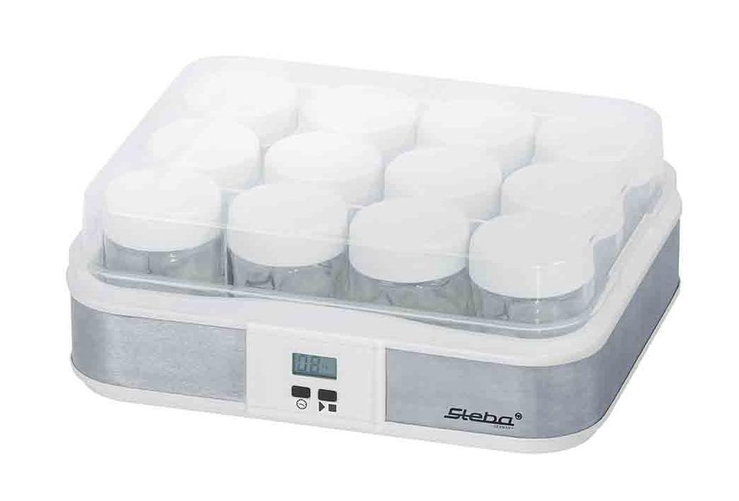 Steba JM2 йогуртницаJM 2Свежий йогурт - это так просто сделать первый шаг к здоровью! Приготовленный дома йогурт способствует поддержанию иммунитета, улучшает пищеварение и пополняет организм питательными микроэлементами. Если вы обладаете йогуртницей Steba JM 2, то вам не придется покупать непонятный йогуртовый продукт в магазине и переплачивать за него, а взять и приготовить его у себя дома. Размеры устройства 125 x 310 x 250 мм позволяют ему не занимать много места. Простота и удобство Устройство обладает мощностью 21 Вт, а подключение производиться к обычной сети электропитания. Вы сможете за один раз приготовить достаточно много йогурта, так как общий объем контейнеров составляет 2,4 литра, то есть 12 баночек по 200 грамм. Порционные емкости очень удобны и накрываются крышечками. Устройство обладает электронным управлением и имеет ЖК-дисплей. Функция таймера позволит вам выставить время приготовления в зависимости от продукта. Процесс приготовления Для приготовления вам...