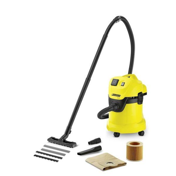 Пылесос Karcher WD 3 P 1.629-880.01.629-880.0Хозяйственный пылесос Karcher WD 3 P 1.629-880 предназначен для сухой уборки, а также для сбора небольшого количества жидкости. Он широко используется при уборке в подвале, в мастерской, в гараже и при чистке автомобиля. Пылесос оснащен розеткой, к которой можно подключать электроинструменты - для сохранения рабочего места в чистоте. Данная модель имеет функцию выдувания, что позволяет легко удалять листву с гравийной дорожки. Пылесос имеет ударопрочный пластиковый корпус объемом 17 литров и потребляет всего 1000W. Тип уборки: сухая уборка, сбор влажного мусора. Наличие функции всасывания жидкости. Возможность подключения электроинструмента. Транспортный механизм. Место для хранения насадок на корпусе. Функция выдува. Пыле/влага защита выключателей. Задержка выключения пылесоса для опорожнения шланга от пыли. Функция синхронного старта при включении подключенного к пылесосу инструмента. Крюк для подвеса...