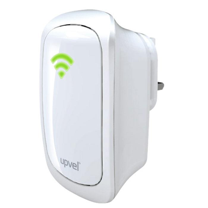 UPVEL UA-322NR репитерUA-322NRРепитер UA-322NR предназначен для увеличения зоны охвата сети Wi-Fi. Он позволяет обеспечить надёжное соединение там, где наблюдаются проблемы с подключением к беспроводной сети ввиду слабого или вовсе отсутствующего сигнала. Подключение к существующей сети осуществляется как по Ethernet-кабелю, так и по Wi-Fi. Благодаря этому репитер также может использоваться как для подключения к беспроводной сети устройств, не имеющих собственного модуля Wi-Fi, так и в качестве беспроводного интерфейса для расширения возможностей существующей кабельной сети. Компактные размеры и встроенная штепсельная вилка делают установку репитера максимально быстрой и простой. Индикатор силы сигнала на корпусе устройства помогает легко выбрать оптимальное место для установки репитера, а поддержка всех современных типов шифрования (WEP, WPA и WPA2) обеспечивает надёжную защиту передаваемых данных.