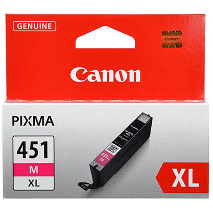 Canon CLI-451 M XL картридж для струйных принтеров6474B001Картридж повышенной емкости Canon CLI-451 XL с чернилами для струйных принтеров Canon PIXMA.