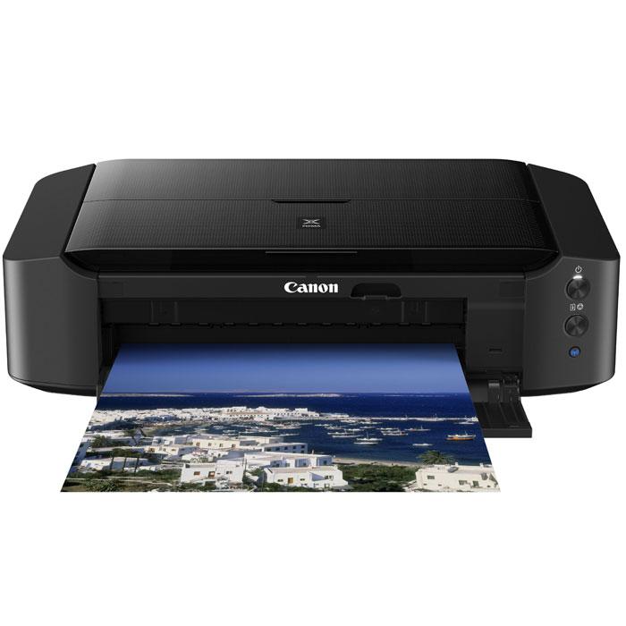 Canon Pixma iP8740 принтер8746b007Canon PIXMA iP8740 — это фотопринтер формата А3, А3+ продвинутого уровня. Для печати фотографий используется шестицветный набор раздельных чернильниц, позволяющий экономно расходовать чернила: если кончается один цвет, вы заменяете только его, продолжая использовать остальные цвета. Стандартный набор цветов голубой, желтый, пурпурный и черный расширен пигментным черным и пигментным серым — это позволяет лучше передать оттенки серого на фотографиях, особенно в случае черно-белой печати. Принтер позволяет печатать не только на фотобумаге любого формата, максимально А3+, но и на CD и DVD-дисках с бумажной основой. Подключить принтер к компьютеру можно как традиционным способом, при помощи кабеля, так и без него, используя Wi-Fi. Благодаря беспроводному подключению к интернету, вы можете отправить на печать фотографии напрямую из социальных сетей или облачных хранилищ, а так же распечатывать любые документы и изображения со смартфона или...