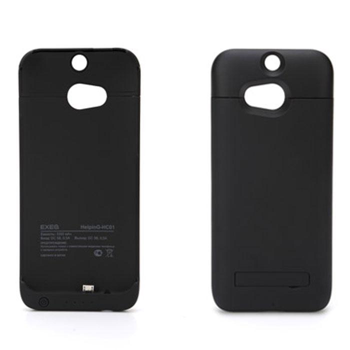 EXEQ HelpinG-HC01 чехол-аккумулятор для HTC One M8, Black (3300 мАч, клип-кейс)HelpinG-HC01 BLЧехол-аккумулятор Exeq HelpinG-HC01 – практичный и стильный аксессуар для смартфона HTC One M8 (one sim). Благодаря специальной конструкции HelpinG-HC01 прекрасно защитит заднюю панель смартфона от загрязнений и царапин, а благодаря встроенному аккумулятору емкостью в 3300 мАч позволит увеличить время работы вашего смартфона в 2 раза! Конструкция выполнена в миниатюрном форм-факторе – надежная защита задней панели и удачное боковое крепление смартфона в чехле. Благодаря такой конструкции и небольшому весу чехол незначительно увеличит габариты вашего смартфона, но при этом обеспечит его второй батареей. Для зарядки телефона от сети, его совсем не нужно извлекать из чехла - просто подсоедините зарядное устройство от телефона к чехлу и нажмите кнопку питания на чехле - телефон начнет заряжаться. Если кнопку питания не нажимать, то будет происходить зарядка. Уровень заряда чехла-аккумулятора демонстрируется при помощи четырех индикаторов заряда. Также для...