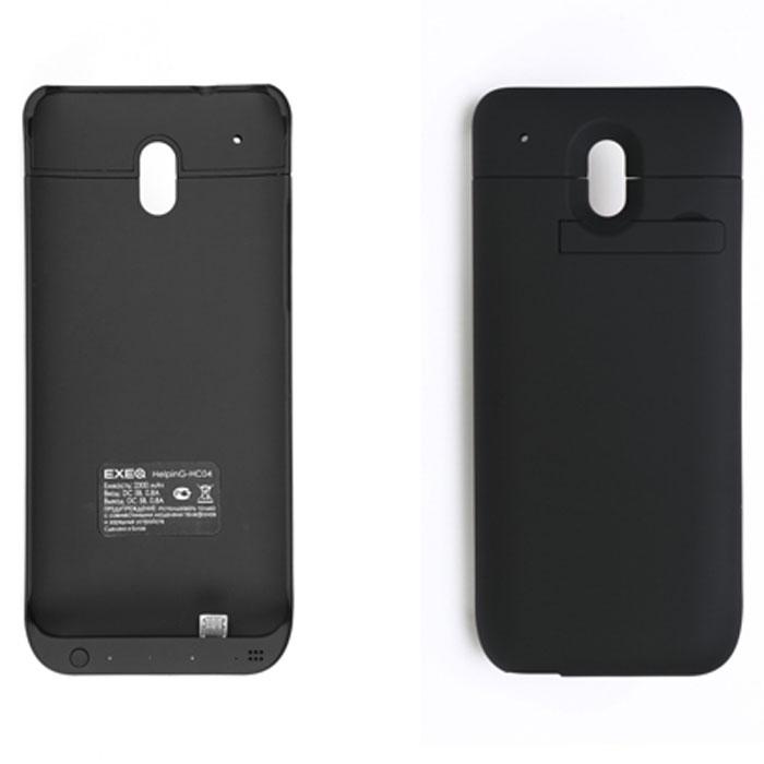 EXEQ HelpinG-HC04 чехол-аккумулятор для HTC One Mini, Black (2300 мАч, клип-кейс)