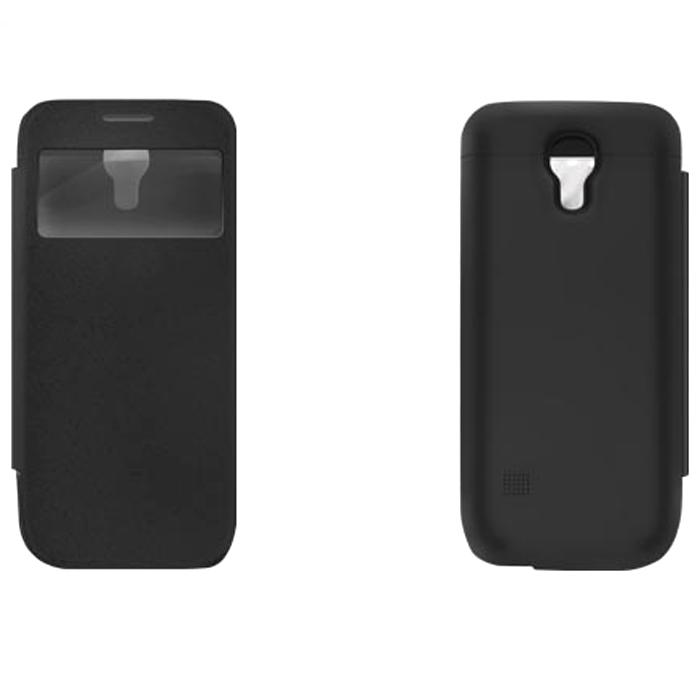 EXEQ HelpinG-SF04 чехол-аккумулятор для Samsung Galaxy S4 mini, Black (2200 мАч, флип-кейс)HelpinG-SF04 BLExeq HelpinG-SF04 – элегантный аксессуар для Samsung Galaxy S4 Mini, идеально сочетающий в себе надежный чехол и дополнительный аккумулятор. Как чехол HelpinG-SF04 надежно защитит смартфон от загрязнений, царапин и ударов. Причем надежная защита будет обеспечена не только задней и боковым панелям телефона, но и дисплею - чехол оснащен специальной откидной крышкой Smart-cover, которая не только защитит дисплей, но и позволит регулировать работу экрана. Как внешний аккумулятор с емкостью в 2200 мАч HelpinG-SF04 способен увеличить время работы смартфона в два раза, обеспечив дополнительную подпитку батареи в самые необходимые моменты. При этом чехол-аккумулятор имеет настолько компактные размеры, что его подсоединение практически не повлияет на габариты самого смартфона. Конструкция чехла предусматривает удобный доступ ко всем элементам управления смартфона, камере, встроенному микрофону и динамику. Даже зарядку телефона можно осуществлять непосредственно ...