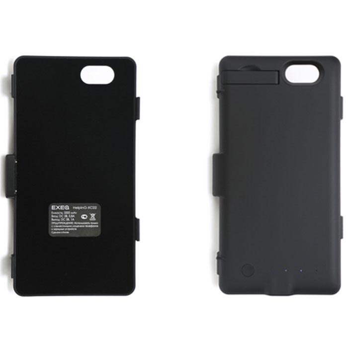 EXEQ HelpinG-XC02 чехол-аккумулятор для Sony Xperia Z1 Compact, Black (3300 мАч, клип-кейс)HelpinG-HX02 BLExeq HelpinG-XC02 – удобный чехол-аккумулятор для компактного смартфона Sony Xperia Z1 Compact. Специальная конструкция чехла позволит надежно защитить заднюю крышку смартфона, удобное боковое крепление позволит быстро поместить смартфон в чехол, а встроенный аккумулятор емкостью в 3300 мАч обеспечит своевременную подзарядку батареи телефона. Благодаря компактным размерам и небольшому весу чехол-аккумулятор совсем незначительно увеличивает габариты и вес смартфона. Зарядка аккумулятора чехла происходит от зарядного устройства смартфона и при этом смартфон не обязательно извлекать из чехла. Достаточно просто подключить зарядное к чехлу и нажать на кнопку питания на задней поверхности чехла – и начнется зарядка телефона. Если кнопку питания не нажимать, то начнется зарядка чехла-аккумулятора. Приятным дополнением HelpinG-XC02 также является наличие встроенной подставки, которая сможет поддерживать ваш смартфон в горизонтальном положении, например, для общения...