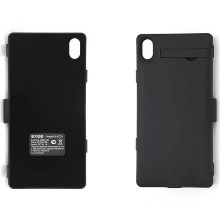 EXEQ HelpinG-XC03 чехол-аккумулятор для Sony Xperia Z2, Black (4300 мАч, клип-кейс)HelpinG-HX03 BLСтильный дизайн, надежная защита, компактные размеры, удобное использование и своевременная подзарядка – основные характеристики чехла-аккумулятора Exeq HelpinG-XC03 для смартфона Sony Xperia Z2. Лаконичный дизайн чехла и его небольшие размеры идеально дополнят дизайн смартфона, незначительно увеличив его габариты. Специальный пластик обеспечит надежную защиту задней панели телефона, а встроенный аккумулятор емкостью в 4300 мАч сможет вовремя подзарядить батарею телефона. Слушайте любимые мелодии, смотрите сериалы, бороздите просторы интернета – с Exeq HelpinG-XC03 вам больше не придется беспокоиться о батарее вашего смартфона! Для зарядки смартфона от сети, его совсем не нужно извлекать из чехла - просто подсоедините зарядное устройство от телефона к чехлу и нажмите кнопку питания на задней поверхности - телефон начнет заряжаться. Если кнопку питания не нажимать, то будет происходить зарядка чехла-аккумулятора. Уровень заряда чехла-аккумулятора...