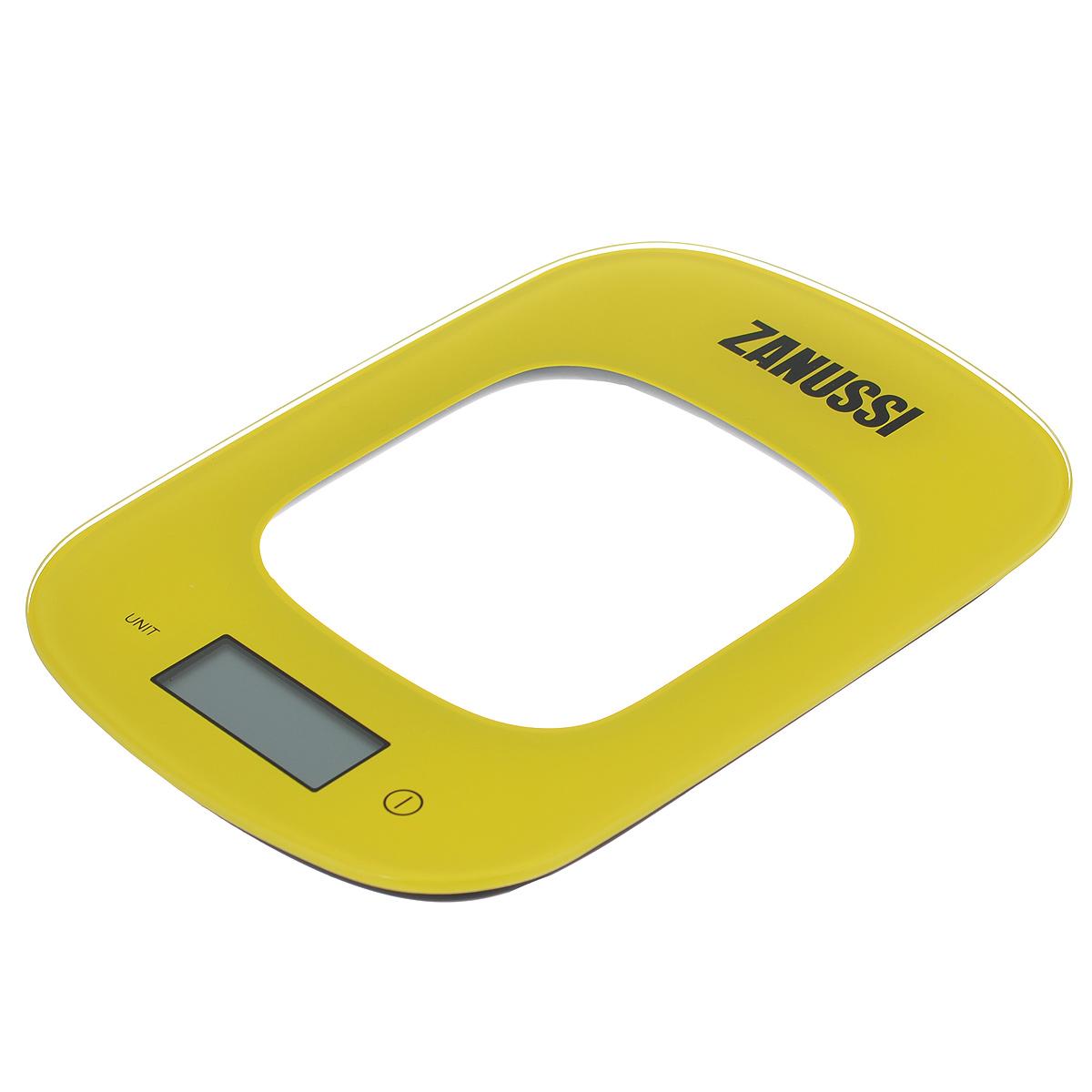 Весы кухонные Zanussi Venezia, электронные, цвет: желтый, до 5 кгZSE22222CFЭлектронные кухонные весы Zanussi Venezia придутся по душе каждой хозяйке и станут незаменимым аксессуаром на кухне. Ультратонкий корпус весов выполнен из пластика с цифровым ЖК-дисплеем. Весы выдерживают до 5 килограмм и оснащены высокоточной сенсорной измерительной системой. Имеется индикатор низкого заряда батареи. С помощью таких электронных весов можно точно контролировать пропорции ингредиентов. УВАЖАЕМЫЕ КЛИЕНТЫ! Обращаем ваше внимание, что весы работают от одной литиевой батарейки CR2032 напряжением 3V (входит в комплект).