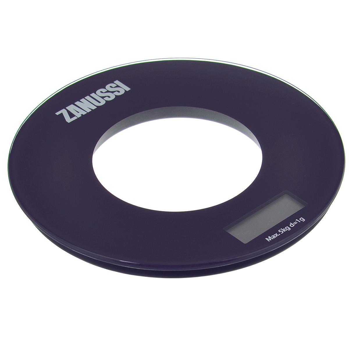 "Весы кухонные Zanussi ""Bologna"", электронные, цвет: фиолетовый, до 5 кг ZSE21221BF"