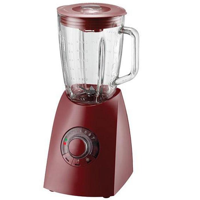 Oursson BL0640G/DC, Dark Cherry настольный блендерBL0640G/DC Dark CherryБлендер Oursson BL0640G – электрический бытовой прибор, предназначенный для измельчения пищи. Особенностью блендера является его конструкция: на основание, в котором расположен двигатель, надевается чаша, в которой работает лопастной нож. С его помощью можно готовить пюре и муссы, колоть лед, взбивать и смешивать напитки. Поворотный переключатель с кнопками поможет выбрать необходимую программу измельчения, а также установить нужную скорость от 1 до 7 или выбрать режим быстрого смешивания. Функция легкой очистки сделает уход за прибором значительнее удобнее и проще.
