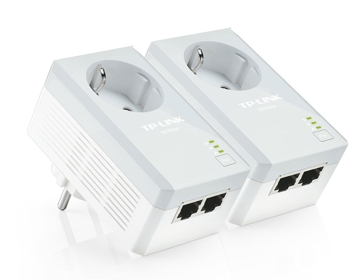 TP-Link TL-PA4020PKIT AV500 комплект адаптеров Powerline с электророзеткой