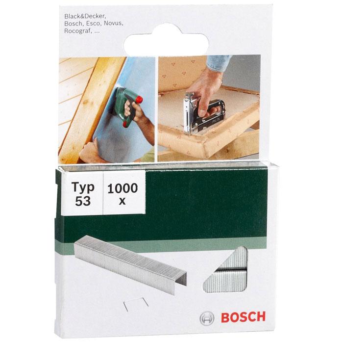 Скобы Bosch для строительного степлера, тип T53, 6 мм, 1000 шт