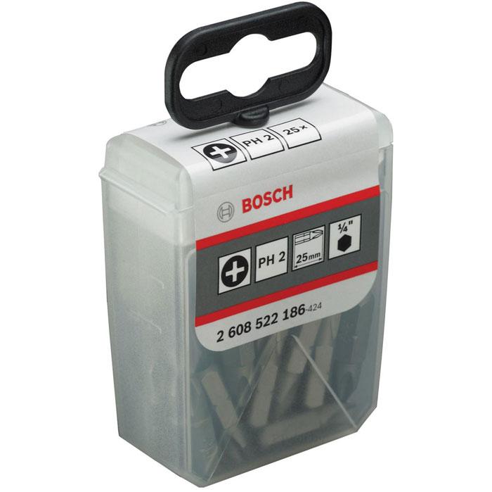 Набор крестовых бит Bosch Extra-Hart, PH2 х 25 мм, 25 шт2608522186