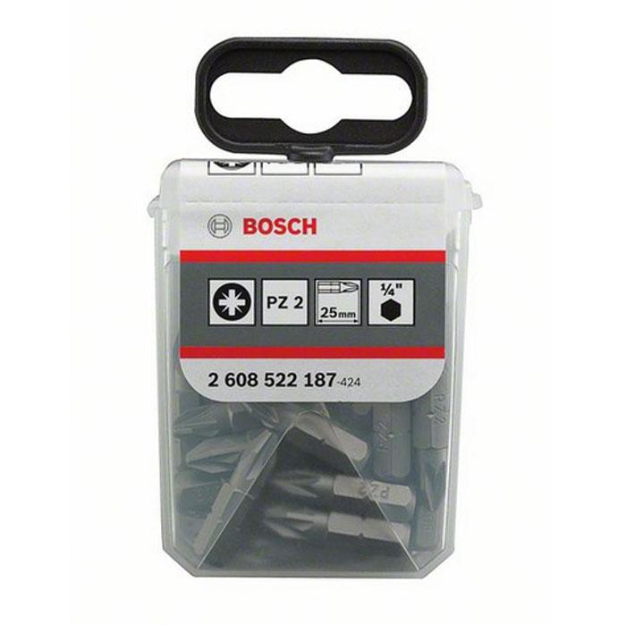 Набор крестовых бит Bosch Extra-Hart, PZ2 х 25 мм, 25 шт2608522187