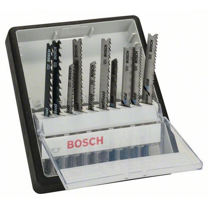 Набор пилок по металлу и дереву Bosch, Т-образный хвостик, 10 шт2607010542