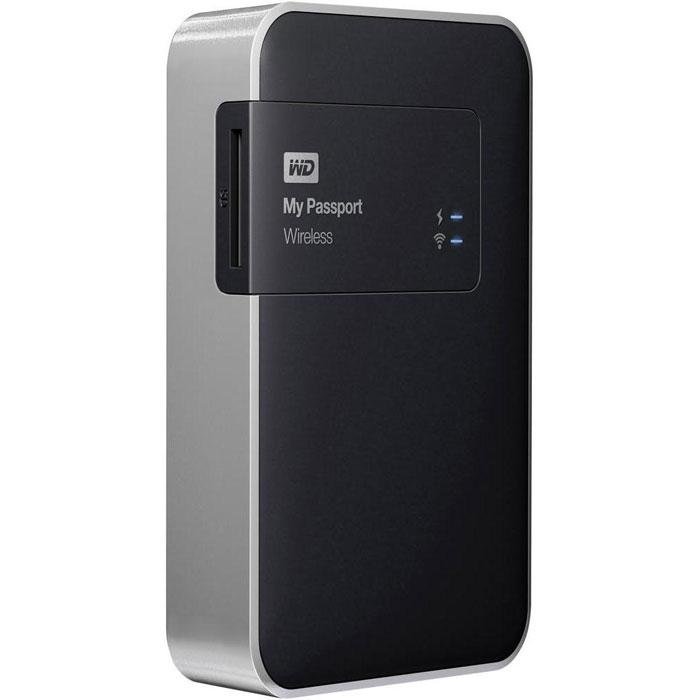 WD My Passport Wireless 2TB (WDBDAF0020BBK-EESN) внешний жесткий дискWDBDAF0020BBK-EESNВнешний жесткий диск WD My Passport Wireless подойдет для всех ваших устройств. Не зависящий от проводов и Интернета, My Passport Wireless позволяет подключать одновременно до 8 устройств. Встроенный слот для карты SD Переносите фотографии и видео с карты SD или делайте резервные копии на месте работы, чтобы продолжить съемку. Кроме того, вы можете в любой момент поделиться своими шедеврами с помощью любого устройства, подключенного к накопителю. Перезаряжаемый аккумулятор поможет в трудную минуту. Сохраняйте мобильность с помощью долговечного встроенного перезаряжаемого аккумулятора. Его хватит на 6 часов непрерывной трансляции потокового видео или на 20 часов в режиме ожидания. Устанавливайте беспроводное соединение со своими мобильными устройствами. Работайте с медиафайлами на планшете и смартфоне с помощью мобильного приложения My Cloud от WD. Делитесь своими файлами и получайте к ним защищенный доступ из любой...