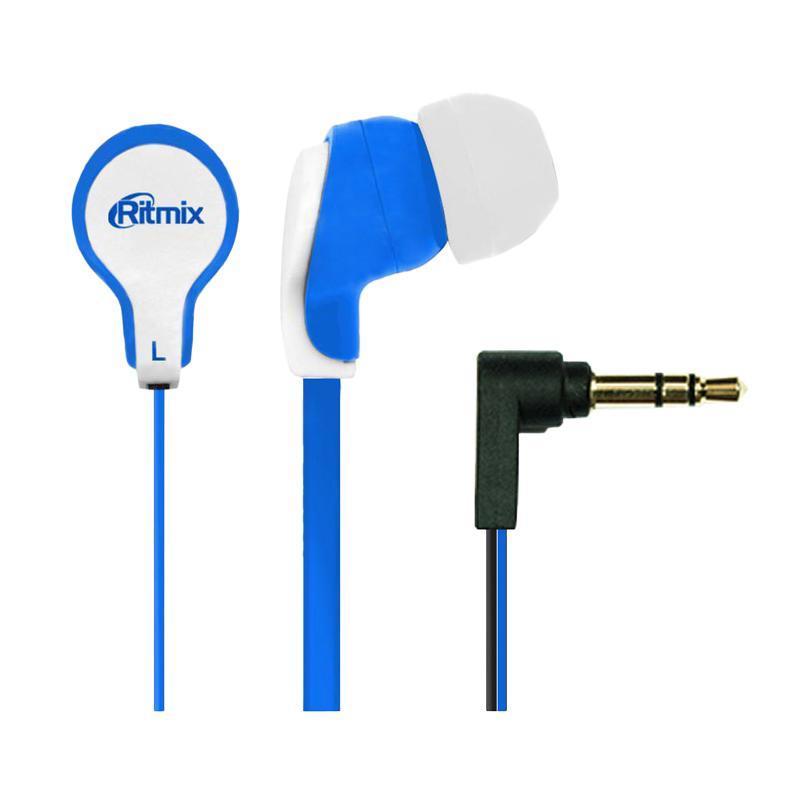 Ritmix RH-183, Blue White наушникиRH-183, Blue WhiteRitmix RH-183 – это портативные наушники-вкладыши с плоским проводом. Модель характеризуется качественным сбалансированным звучанием.