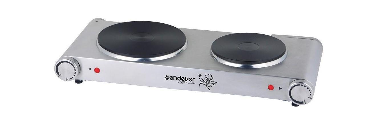 Endever Skyline EP-22 плитка электрическаяSkyLine EP-22ENDEVER SkyLine EP-22 - это малогабаритная дисковая электрическая плита с двумя конфорками, которая отлично подойдет для использования в общежитии или на даче. Она станет прекрасной заменой обычной кухонной газовой плиты. Данная модель имеет мощность 1500 Вт, что позволяет за несколько минут разогреть обед или вскипятить чайник с водой.