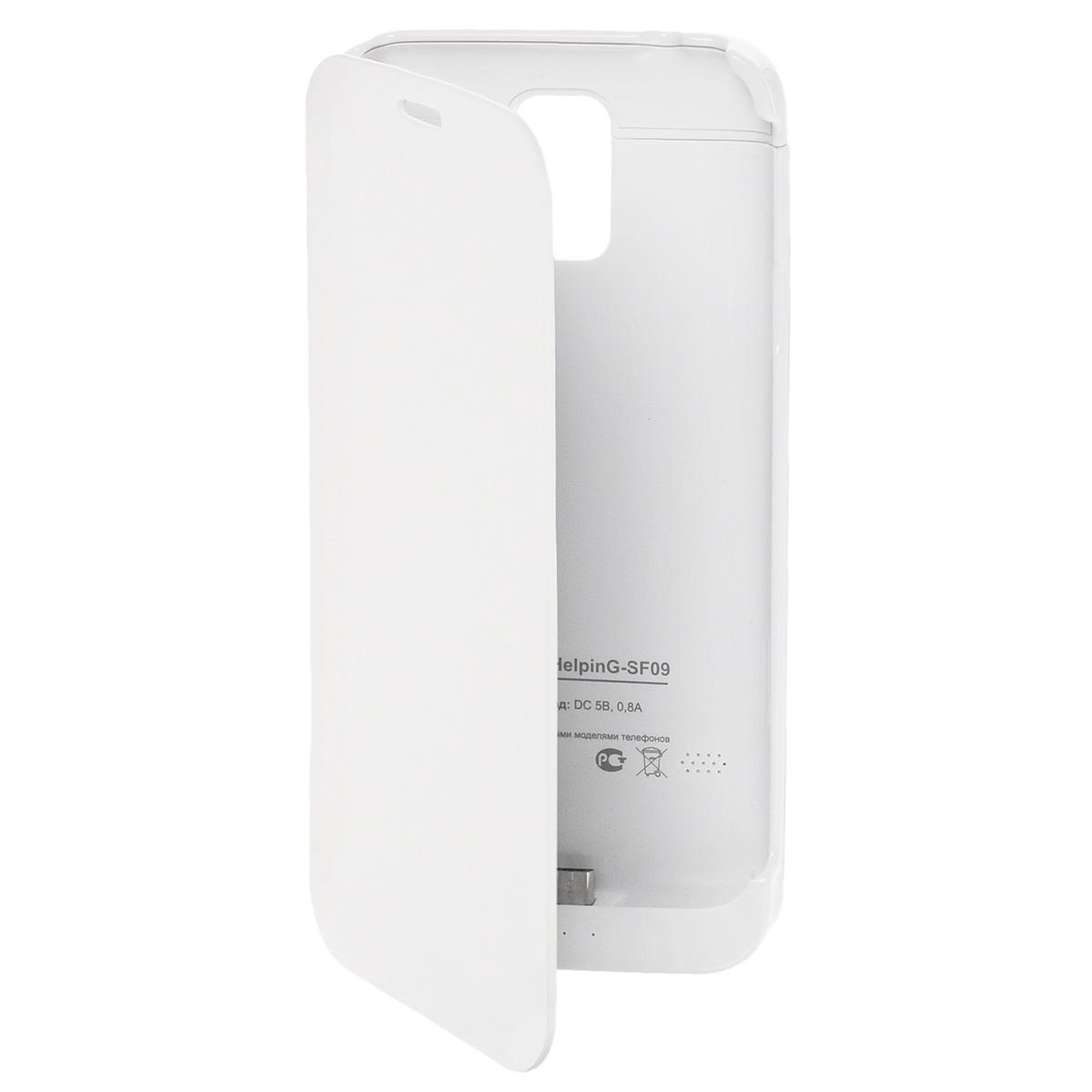EXEQ HelpinG-SF09 чехол-аккумулятор для Samsung Galaxy S5, White (3300 мАч, флип-кейс)HelpinG-SF09 WHЧехол-аккумулятор Exeq HelpinG-SF09 – практичный аксессуар для смартфона Samsung Galaxy S5! Exeq Helping-SF09 надежно защитит телефон от внешнего воздействия – ударов, грязи, царапин, а встроенная в аксессуар батарея емкостью в 3300 мАч обеспечит подзарядку аккумулятора телефона в самые необходимые моменты. Элегантный дизайн, классические формы и качественный пластик удачно дополнят совершенный дизайн смартфона Samsung Galaxy S5, незначительно при этом увеличив его габариты и вес. В качестве приятного дополнения Exeq HelpinG-SF09 имеет откидывающуюся подставку. Специальная конструкция чехла с выдвижной верхней частью позволит удобно и надежно поместить телефон в чехол, а при необходимости легко и быстро достать телефон из чехла. Хотя извлекать телефон из надежного Exeq HelpinG-SF09 вам вряд ли понадобится – заряжать телефон можно непосредственно в чехле, подключив к нему зарядное устройство телефона и нажав кнопку питания на чехле. Если кнопку питания не...