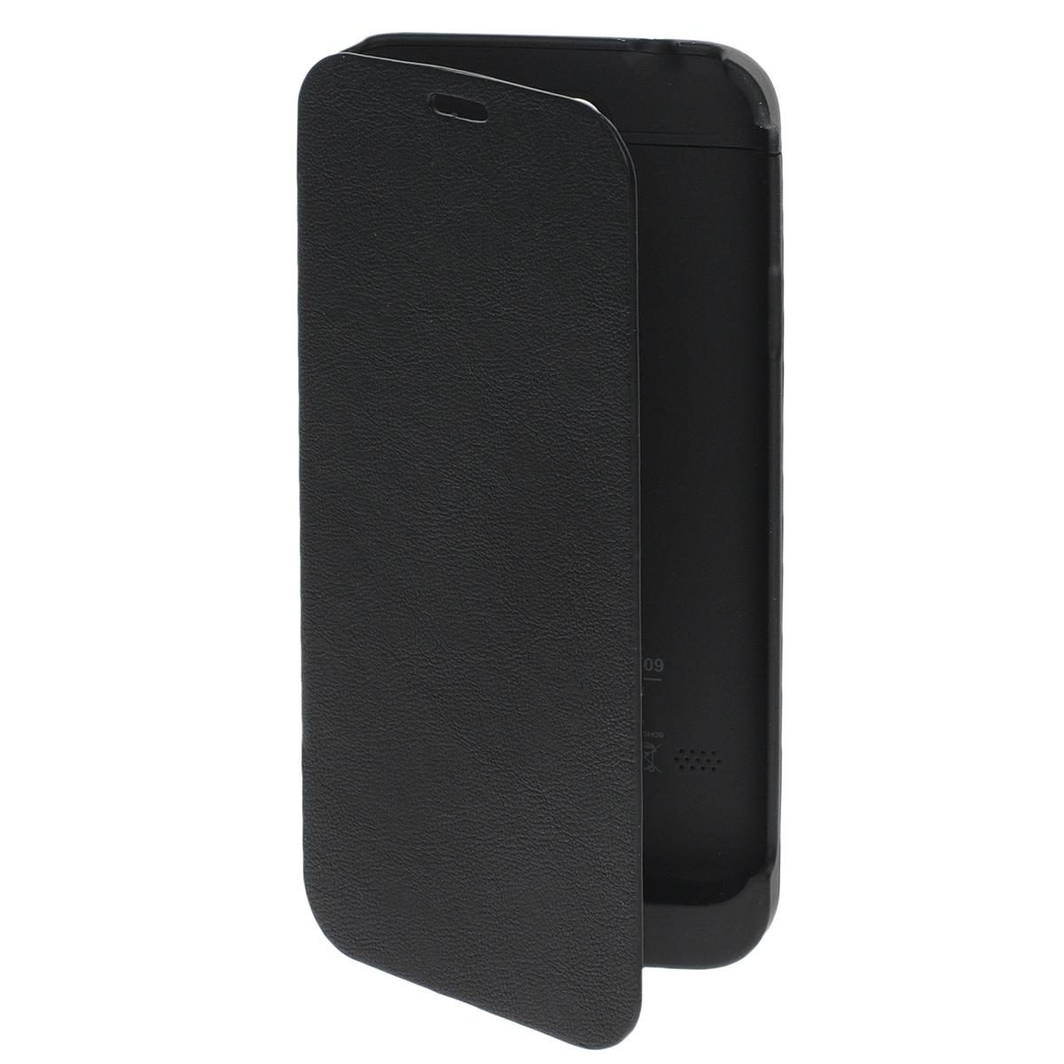 EXEQ HelpinG-SF09 чехол-аккумулятор для Samsung Galaxy S5, Black (3300 мАч, флип-кейс)