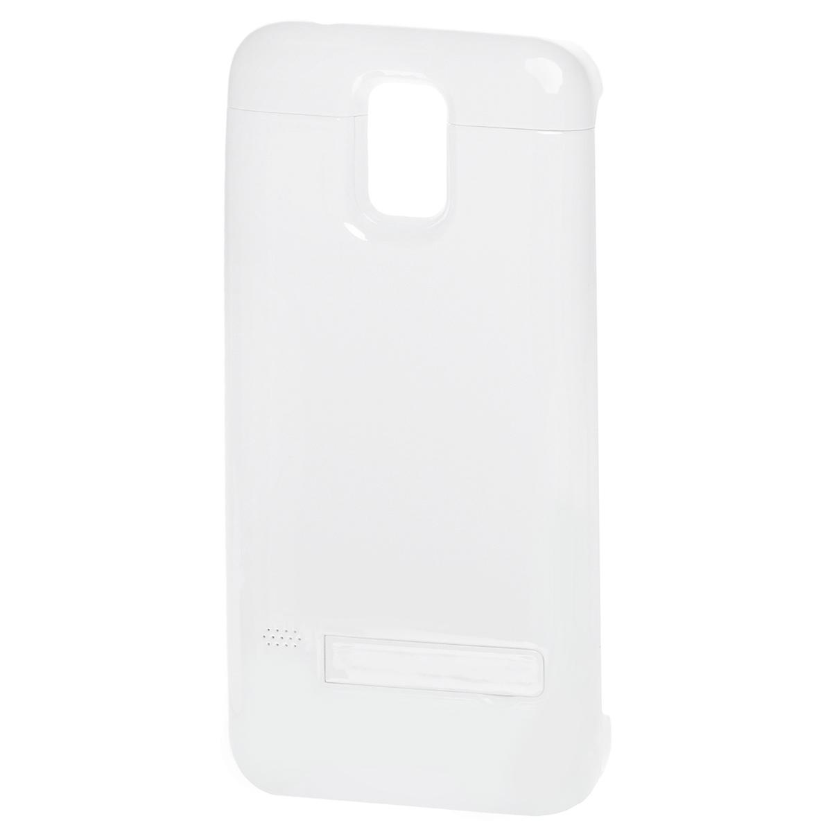 EXEQ HelpinG-SC08 чехол-аккумулятор для Samsung Galaxy S5, White (3300 мАч, клип-кейс)HelpinG-SC08 WHExeq HelpinG-SС08 – универсальный аксессуар, благодаря которому ваш смартфон не только будет надежно защищен, но и обеспечен своевременной подзарядкой! Exeq HelpinG-SС08 выполнен из прочного прорезиненного пластика, который надежно защитит смартфон от ударов, царапин и загрязнений. Встроенный аккумулятор емкостью в 3300 мАч обеспечит своевременную подзарядку батареи смартфона в самые необходимые моменты его использования. Также чехол Exeq HelpinG-SС08 оборудован встроенной подставкой, которая позволит надежно закрепить телефон в горизонтальном положении, например для просмотра видео, чтения электронных книг. Заряжается чехол-аккумулятор Exeq HelpinG-SС08 от зарядного устройства телефона, причем заряжать оба устройства можно не извлекая телефон из чехла. Так для зарядки телефона просто подсоедините зарядное устройства к чехлу и нажмите кнопку питания на чехле, а для зарядки чехла просто подсоедините зарядное устройство к нему. Аналогично происходит и ...