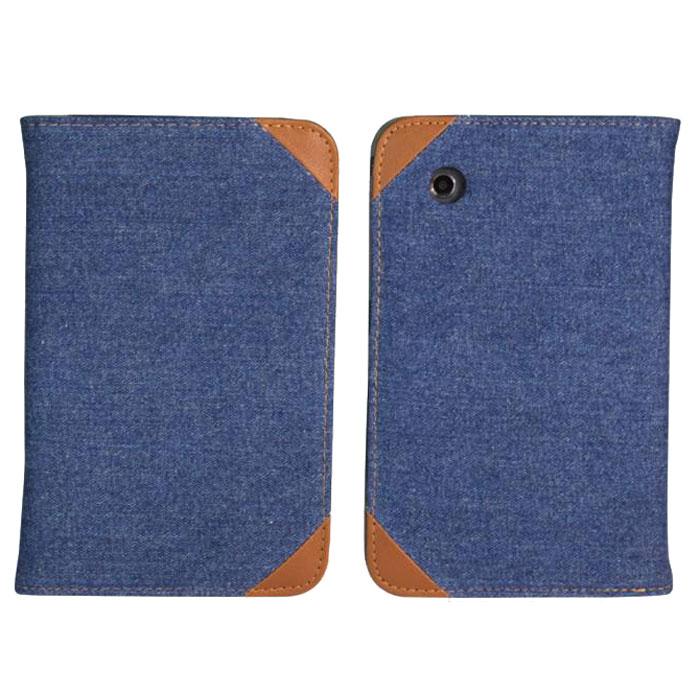 IT Baggage Jeans чехол для Samsung Galaxy Tab 2 7 P3100/P3110, Black BlueITSSGT7208-4IT Baggage Jeans для Samsung Galaxy Tab 2 7 - удобный и надежный чехол для планшета Samsung Galaxy Tab 2 7, который надежно защищает ваше устройство от внешних воздействий, грязи, пыли, брызг. Также он поможет при ударах и падениях, смягчая их, и не позволяя образовываться на корпусе царапинам, потертостям. Чехол весьма долговечен и практичен, он подчеркнет ваш отличный вкус.