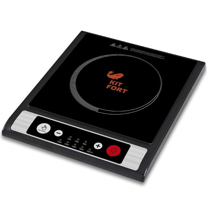 Kitfort KT-107 индукционная плиткаKT-107В плитке Kitfort КТ-107 используются современные технологии, позволяющие готовить вкусно, быстро и абсолютно безопасно. Индукционная плитка практически исключает вероятность получения ожогов, так как рабочая поверхность почти не нагревается во время готовки, а КПД плитки составляет 90%, что гораздо больше, чем у других типов электрических плит, поэтому она не нагревает воздух в помещении во время приготовления пищи. КТ-107 подойдёт для тех, кому нужна простая и недорогая плитка без излишнего функционала. Стеклокерамическая рабочая поверхность текстурирована, что уменьшает проскальзывание посуды. Восемь режимов нагрева со светодиодной индикацией предоставляют широкий спектр значений мощности от 200 до 1800 Вт. Плитка оснащена кнопочным управлением и имеет функцию блокировки кнопок от случайного нажатия. КТ-107 выдерживает перепады напряжения и может работать как при повышенном, так и при пониженном напряжении питания, мощность нагрева при...