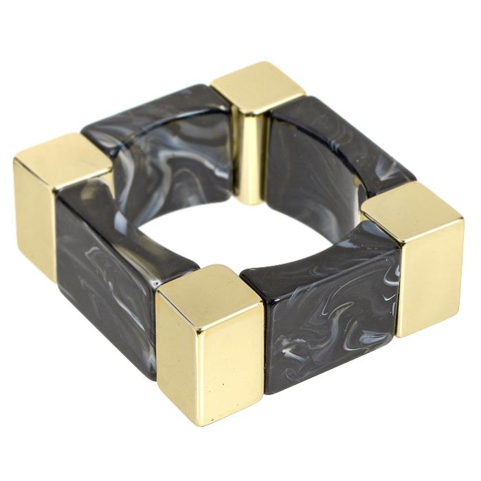 Браслет AtStyle247, цвет: черный, золотой. T-B-8500-BRAC-GD.BLACKT-B-8500-BRAC-GD.BLACKШикарный женский браслет AtStyle247 выполнен из металла золотого цвета и оформлен вставками из пластика, стилизованными под камни. Эластичная прочная резинка позволит идеально зафиксировать модель на руке. Браслет легко надевать и снимать. Это украшение позволит вам с легкостью воплотить самую смелую фантазию и создать собственный неповторимый образ. Красивый и необычный браслет блестяще подчеркнет ваш изысканный вкус и поможет внести разнообразие в привычный образ.