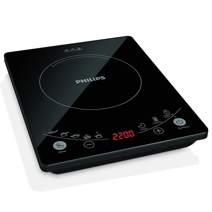 Philips HD4959/40 индукционная плиткаHD4959/40Индукционная плитка PHILIPS HD 4959/4 сделает приготовление любимых блюд проще. Правильное питание - основа крепкого здоровья. Новая индукционная плитка Philips сокращает время приготовления на 40% и благодаря этому сохраняет питательные вещества. С ее помощью вы сможете приготовить самые разные здоровые и полезные блюда, а улучшенный дизайн панели управления сделает этот процесс проще и удобнее. 6 программ приготовления полезных блюд с уникальной системой нагрева Стильный внешний вид благодаря стеклянной панели черного цвета Повышенная безопасность благодаря нескольким ступеням защиты и самопроверки 6 уровней мощности для приготовления различных блюд Конструкция с отсеком для хранения шнура повышает удобство использования Сенсорное управление для максимального удобства Высокая мощность работы 2200 Вт для быстрого приготовления блюд Функция защиты от детей для дополнительной безопасности на кухне Специальная емкость для...