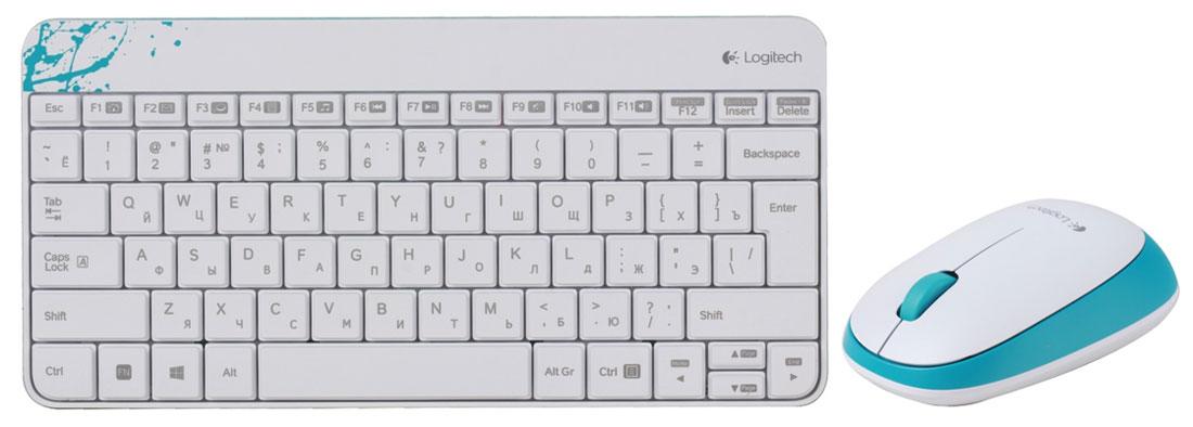 Logitech MK240 USB, White (920-005791) клавиатура + мышь920-005791Комплект из клавиатуры и мыши Logitech MK240. Всплеск цвета в обтекаемых формах: Потрясающее впечатление от цвета, формы и компактного дизайна в стиле минимализма. Удобная клавиатура и мышь: Естественное положение рук благодаря изящным низкопрофильным клавишам, обеспечивающим комфорт и бесшумность при каждом нажатии. В комплект также входит удобная мышь. Плавность движений, длительный срок службы: Надежная влагозащищенная конструкция с устойчивыми наклонными ножками обеспечивает длительный срок службы клавиатуры. Кроме того, вы по достоинству оцените точное управление перемещениями курсора, достигнутое благодаря высокоточной оптической технологии отслеживания (разрешение 1000 точек на дюйм).