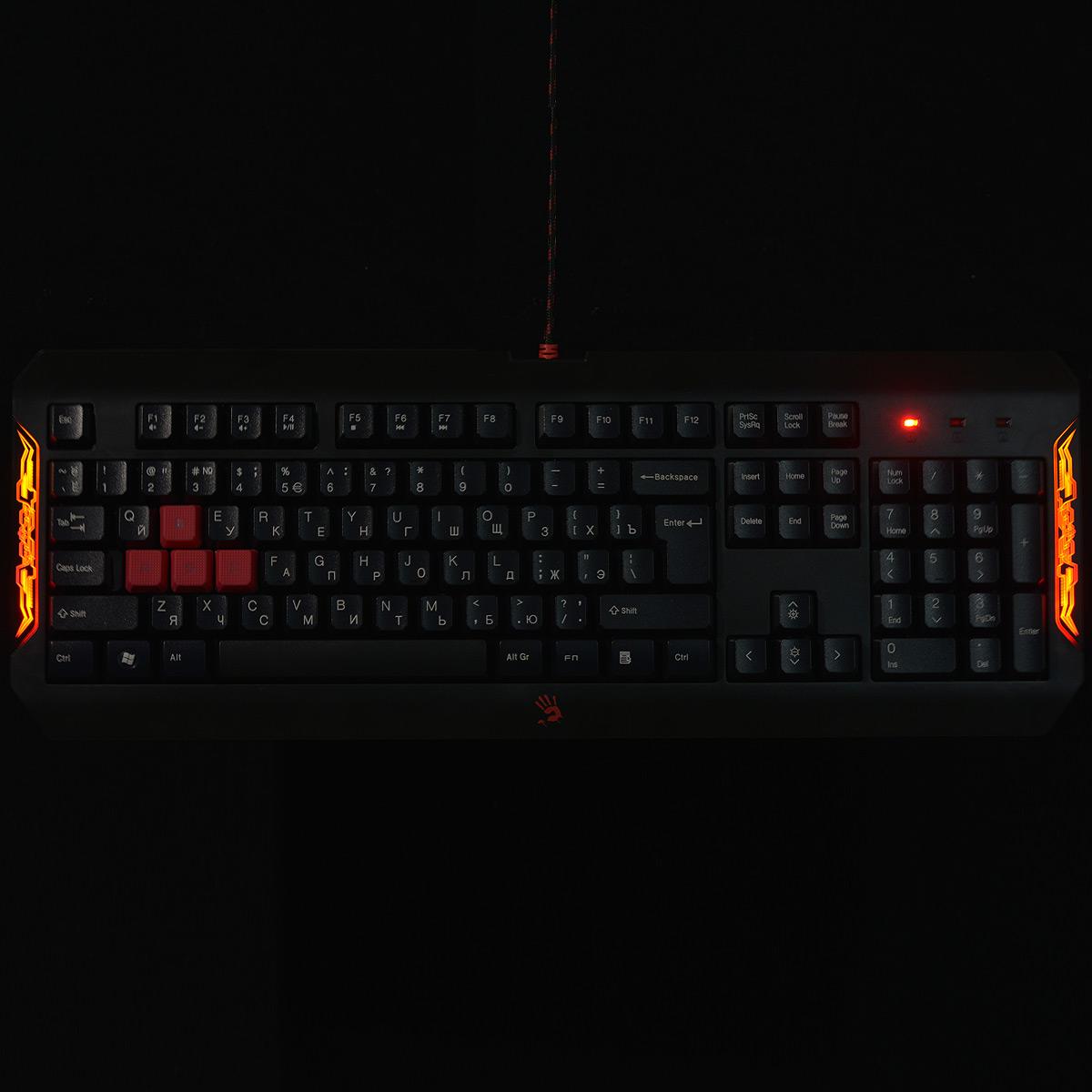 A4Tech Bloody Q1100 (Q100+S2), Black клавиатура + мышь