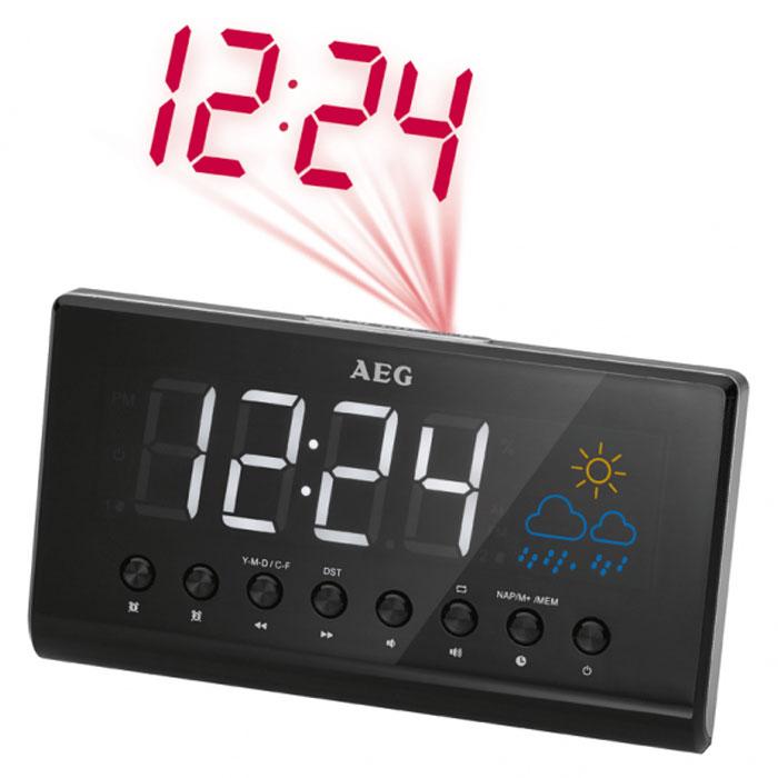 AEG MRC 4141 P, Black радиочасы