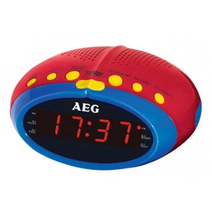 AEG MRC 4143 радиочасыMRC 4143 buntAEG MRC 4142 - радиобудильник из детской серии AEG с светодиодным дисплеем отображения времени и режимов работы. Прослушивать любимые радиостанции поможет встроенный PLL-тюнер с поддержкой FM-диапазона. Вы также можете выбрать сигнал пробуждения: радио или зуммер. Дипольная антенна Таймер автоматического отключения Повтор сигнала (режим дремать)