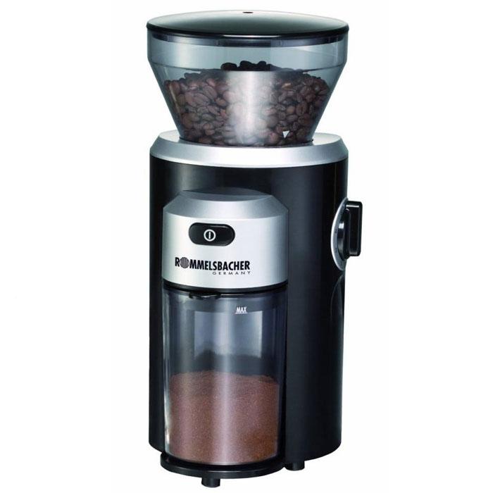 Rommelsbacher EKM 300 кофемолкаEKM 300Если для вас важна степень помола, то кофемолка Rommelsbacher EKM 300 с жерновой системой и мощностью 150 Вт - это то, что вам нужно. Она вмещает до 220 грамм зерен, чего будет вполне достаточно для нескольких чашек напитка. Очень удобна функция регулировки степени помола. С данной кофемолкой вы каждый день сможете наслаждаться крепким, вкусным и ароматным кофе. Контейнер для кофейных зерен емкостью 220 г с плотной крышкой для сохранения аромата Прочные долговечные жернова из нержавеющей стали Регулировка степени помола от грубого до очень тонкого Установка необходимого за один помол количества кофе Съёмный контейнер для молотого кофе емкостью 120 г Съёмный для лёгкой очистки блок помола