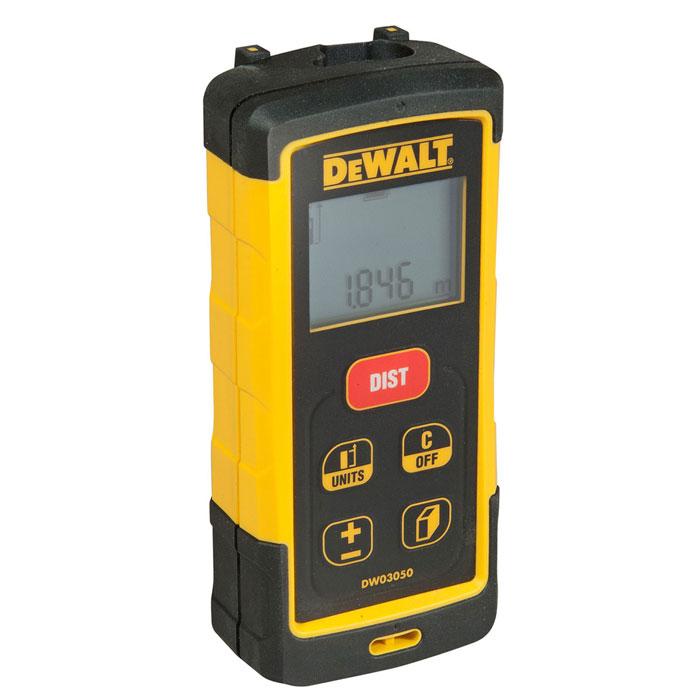 Дальномер лазерный DeWALT DW 03050, 50 м176417Конструкция лазерного дальномера DeWALT DW 03101 позволяет противостоять частым ударам и падениям, которые неизбежно происходят на строительной площадке. При дальности измерений до 50 м погрешность не превышает +/- 1,5 мм Дальномер позволяет измерять линейные расстояния, рассчитывать площадь и объем. Кроме этого предусмотрен расчет расстояний путем сложения и вычитания измеренных величин, как в метрической, так и в дюймовой системе мер Пользователь может выбирать необходимую единицу измерения расстояний Функция измерения расстояния по теореме Пифагора, когда точка A и/или точка B не доступны для линейного измерения Память на последние 5 измерений Большие по размеру, выпуклые кнопки позволяют избежать случайных ошибочных измерений Автоматическая подсветка и 2-х строчный дисплей обеспечивают четкую видимость показаний прибора Ударопрочный корпус выдерживает падения с высоты 2 м на бетонную поверхность и имеет класс защиты IP65 от воды и...