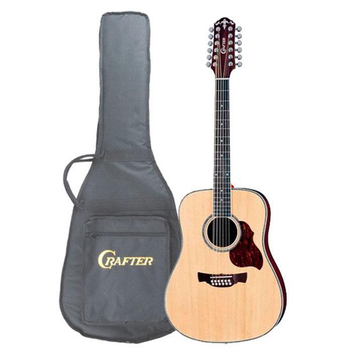 Crafter D-8-12/N 12-струнная акустическая гитара + чехолD 8-12/NCrafter D-8-12/N - 12 струнная акустическая гитара. Для производства гитар Crafter используются специальные породы ели - ситхинская ель (Sitka Spruce),произрастающая в Америке по Тихоокеанскому побережью от Штата Аляска до Северной Калифорнии и ель Энгельмана (Engelmann), растущая в Колумбии. Деревья этих пород очень высоки и достигают в диаметре до 2 метров, их древесина отличается однородной структурой, легким весом и высокой прочностью; в связи с чем, они представляют особую ценность в производстве музыкальных инструментов.