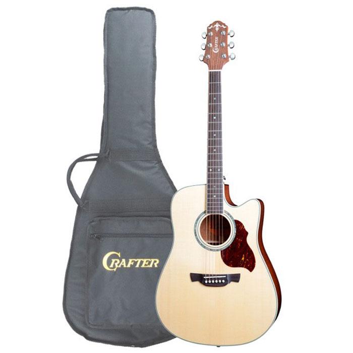 Crafter DE-8/N электро-акустическая гитара + чехол
