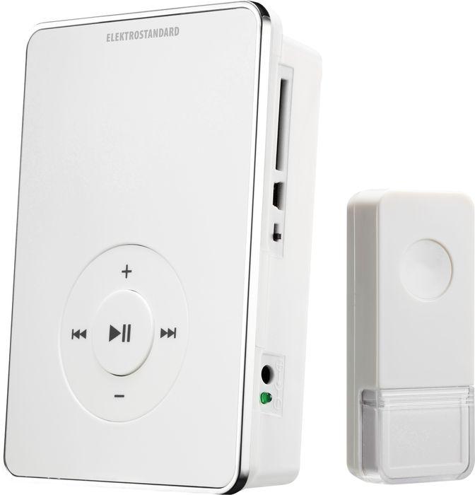 Elektrostandard звонок беспроводной DBQ10Ma027620Данная модель имеет уникальную особенность - воспроизведение MP3 мелодий с SD карты. Звонок может работать как от элементов питания типа АА, так и от внешнего адаптера (в комплект не входит). При питании от батарей звонок может устанавливаться в любом месте квартиры или коттеджа и при необходимости легко перемещать его. Благодаря минимальному энергопотреблению, стандартный комплект элементов питания обеспечит работу звонка до 3 лет при средней частоте срабатывания 5 раз в день. На SD карту памяти может быть записано ~100 мелодий или ~1500 фрагментов мелодий длительностью 15 секунд. Звонок работает с картами памяти SD емкостью до 16 Gb. Особенности: Регулятор громкости; Качество звука: MP3 формат