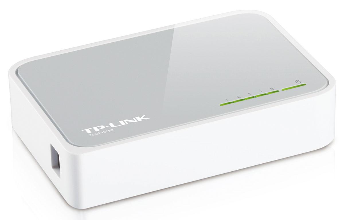 TP-Link TL-SF1005DTL-SF1005DКоммутатор Fast Ethernet TP-Link TL-SF1005D предназначен для использования дома или в небольшом офисе, а также в рабочих группах.Все 5 портов поддерживают технологию авто-MDI/MDIX, не нужно беспокоится о типе кабеля, просто воткните кабель в устройство. Более того, благодаря инновационной энергосберегающей технологии коммутатор TL-SF1005D позволит сберечь до 70% потребляемой электроэнергии. 80% упаковочного материала может быть использовано вторично. Поэтому коммутатор является экологически-безопасным решением для Вашей деловой сети. Превосходные рабочие характеристики Коммутатор Fast Ethernet TL-SF1005D оснащен 5 портами 10/100 Мбит/с с автосогласованием и разъемами RJ45. Все порты поддерживают функцию авто-MDI/MDIX, устраняя необходимость использования кабеля с перекрещивающимися парами или портов с поддержкой функции Uplink. Благодаря использованию неблокирующей архитектуры коммутатор TL-SF1005D может передавать и фильтровать пакеты на максимально возможной для...