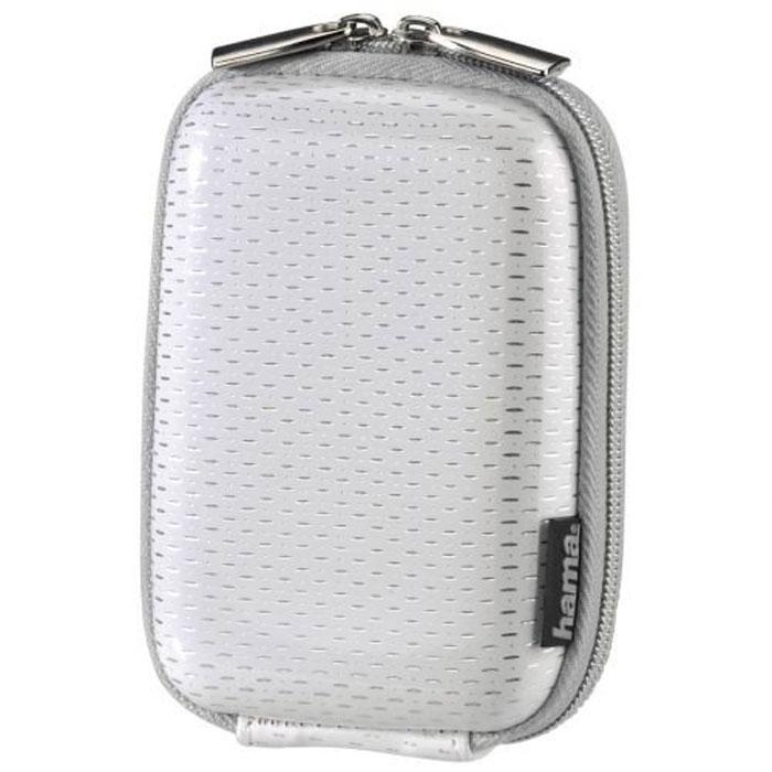 Hama Hardcase Glossy 40G, White чехол для фотокамеры023155Сумка Hama Hardcase Glossy 40G для цифровой фотокамеры. Имеет отделение для карт памяти и аксессуаров, ремешок для переноски. Также оснащена петлей для ношения на поясе. Прочный материал.