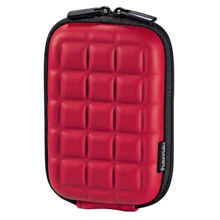 Hama Hardcase Square 60H, Red чехол для фотокамеры103774Сумка Hama Hardcase Square 60H для цифровой фотокамеры. Имеет отделение для карт памяти и аксессуаров, ремешок для переноски. Так же оснащена петлей для ношения на поясе. Прочный материал.