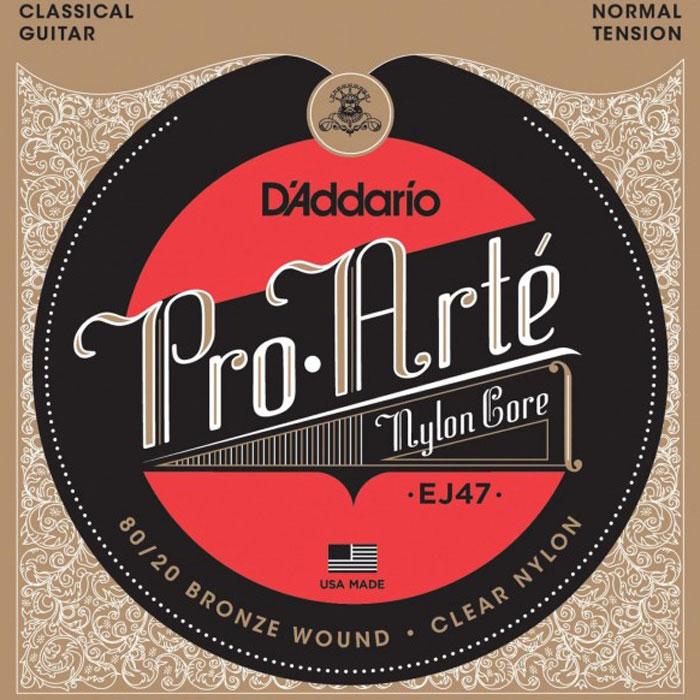 DAddario EJ47 струны для классической гитарыEJ47Струны DAddario EJ47 с обмоткой из бронзы 80/20 для классической гитары. Натяжение: Normal Размеры: 0,0280-0,0322-0,0403-0,0290-0,0350-0,0430