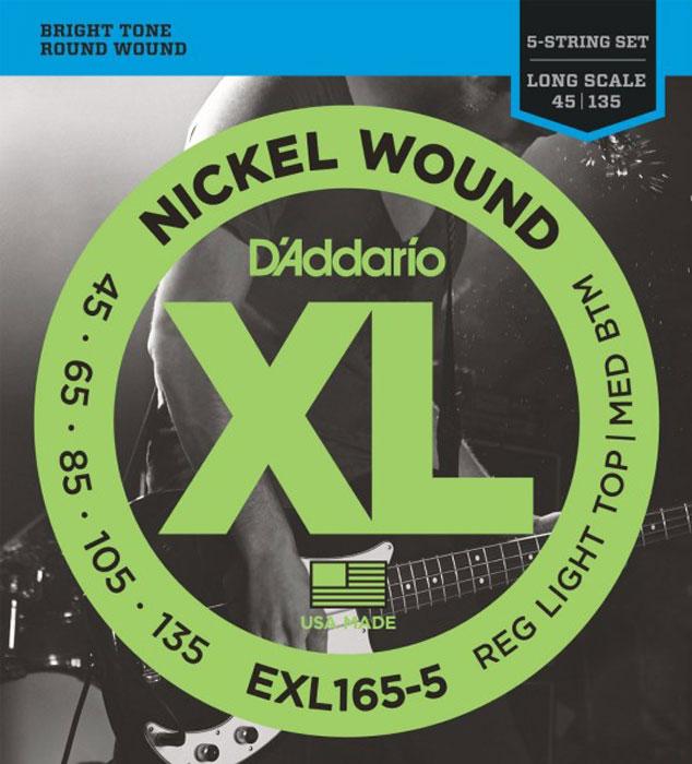 D\'Addario EXL165-5 струны для бас-гитары ( EXL165-5 )